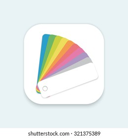 Illustration of Design Color Guide Fan Flat Vector Mobile OS Application Icon for your Mobile Device