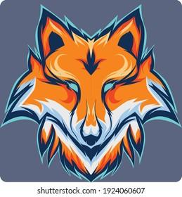 illustration design esports fox logo