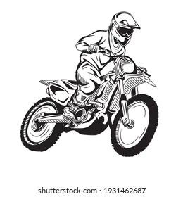 illustration design graphic of motocross, perfect for design