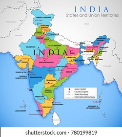 Map Of India With States Images, Stock Photos & Vectors | Shutterstock