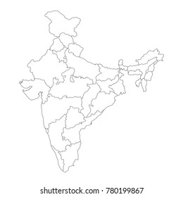 India Map Outline Images, Stock Photos & Vectors | Shutterstock on brahmaputra river india map, indian subcontinent physical map, india's physical map, indian lands map, fox indian map, ancient china map, indian river map, clear indian map, ancient india map, buddhism in india map, empty indian map, blank outline physical maps,