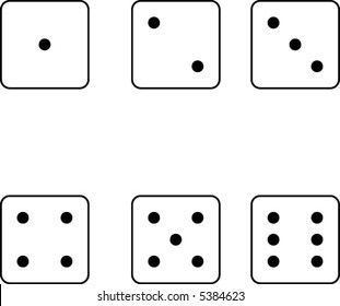 Illustration of dice in vector format