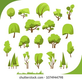 Illustration of different abstract trees