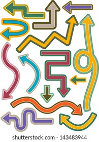 Illustration of Different Arrow Elements