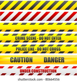 illustration of different caution lines