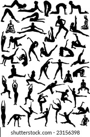 illustration with different dancer silhouettes