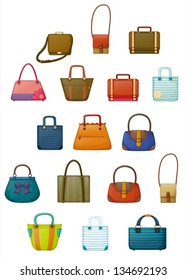 Illustration of of the different designs of bags on a white background