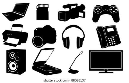 illustration of different electronics