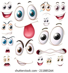 Illustration of different set of eyes