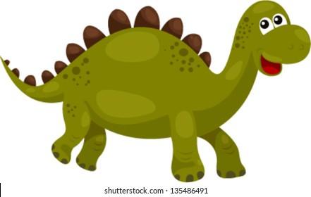 illustration of Dinosaur Stegosaurus - dino