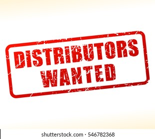 Illustration of distributors wanted