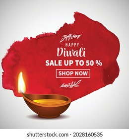 illustration of Diwali background for Dipawali sale template, an Indian  festival, vector banner poster greeting card