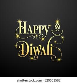illustration of Diwali for the celebration of Hindu community festival.