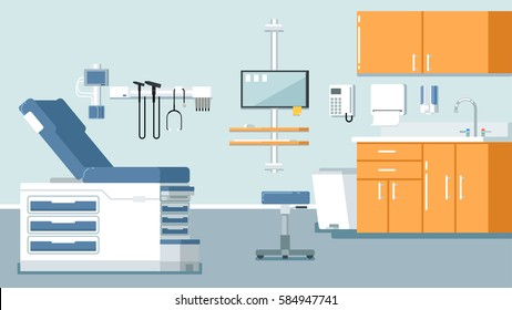 Illustration of a doctor office illustration hospital