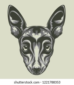 illustration of Dog head with pop art style