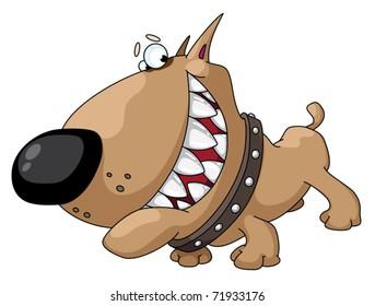 illustration of a dog smile