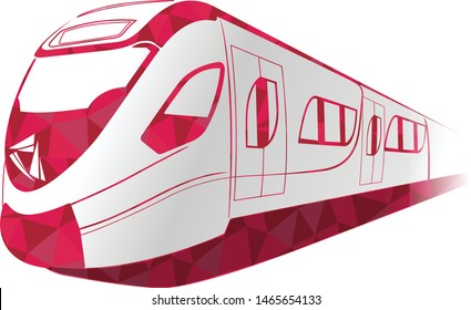 Illustration of Doha Metro – Redline metro, metrolink in Doha City and Lusail City, Qatar