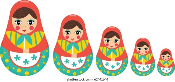 illustration of doll on a white background