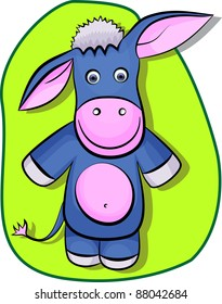 An illustration of a donkey in eps 10.  Can be scaled without quality loss.