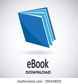 Illustration of Download ebook. E-book icon. Vector