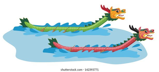 Illustration of Dragon Boat Festival