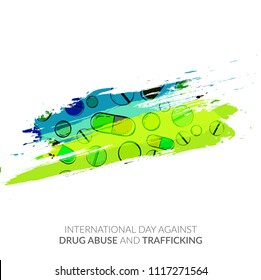 Illustration Of Drug Abusing Concept Poster Template Design,International Day Against Drug Abuse.