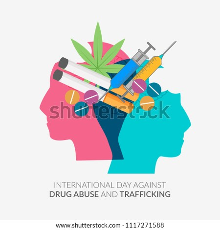 Illustration Drug Abusing Concept Poster Template Stock Vector ...