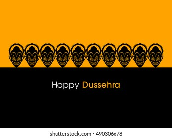 Illustration of Dussehra for the celebration of Hindu community festival.