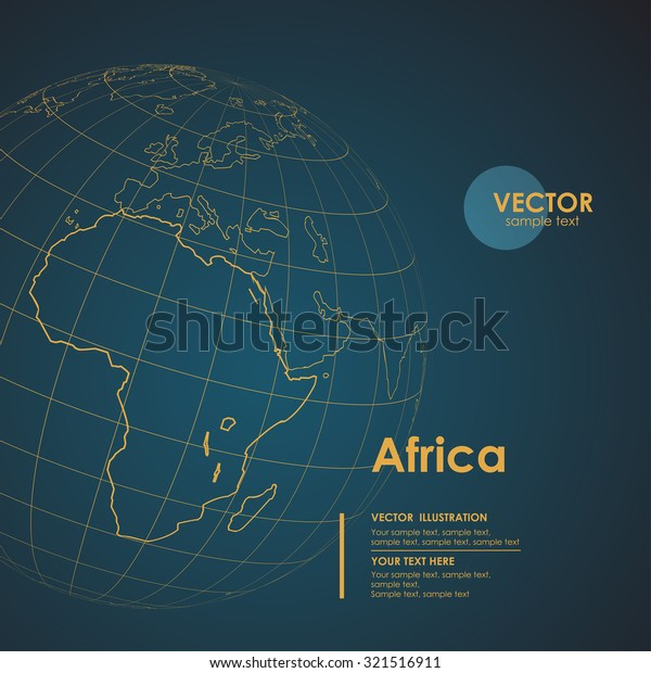 Illustration Earth Map Africa Modern Business Stock Vector (Royalty ...