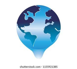 illustration of the earth vector logo