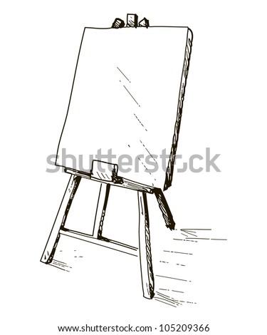 Illustration Easel Artist Stock Vektorgrafik Lizenzfrei 105209366