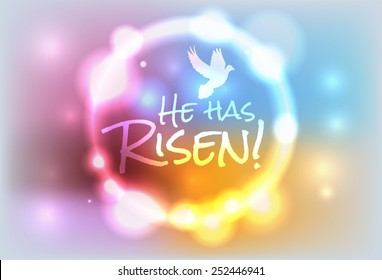 An illustration for Easter Jesus has risen theme. Vector EPS 10. EPS contains transparencies and a gradient mesh.