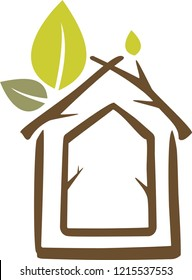 illustration eco home, energy saving systems, real estate sale