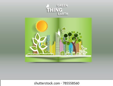 Illustration of eco and world environment day