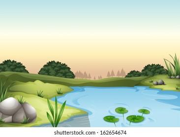 Illustration of an ecosytem