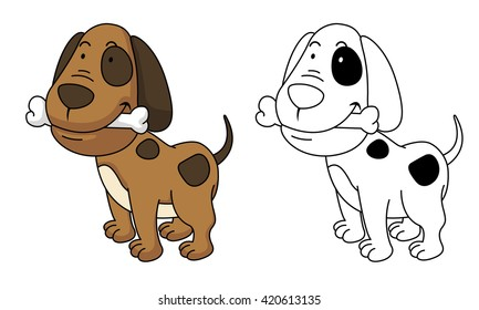 Perro Para Colorear Stock Vectors, Images & Vector Art | Shutterstock