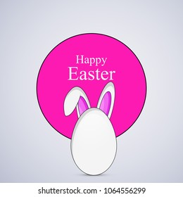 Illustration of Egg with bunny ear for the ocassion of Easter