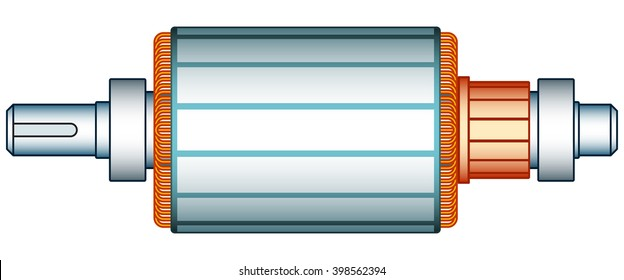 Illustration of the electric motor rotor