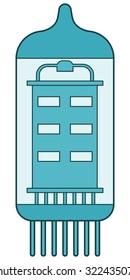 Illustration of an electron tube, icon