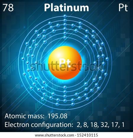 Illustration Element Platinum Stock Vector Royalty Free 152410115