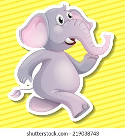 Illustration of an elephant with background