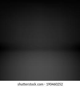 Illustration of empty dark room with dim light
