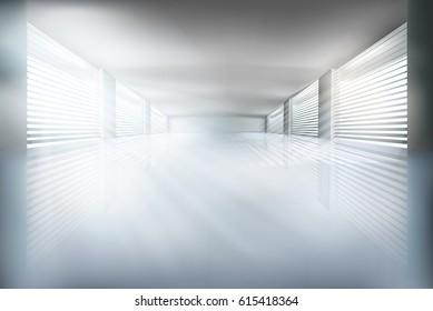 Illustration of empty interior. Vector illustration.
