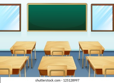 Illustration of an empty room