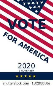 Illustration encouraging americans to vote in the presidential election of 2020. Impartial and suitable for all kinds of use, including printing, web, social media, marketing etc... 24x36 in (ARCH D)