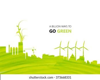 Illustration environmentally friendly planet.