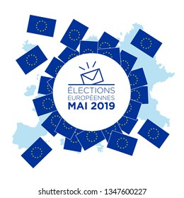 illustration of european elections of may 2019 - european election may 2019