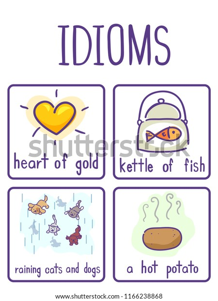 Illustration Examples Idioms Like Heart Gold Stock Vector