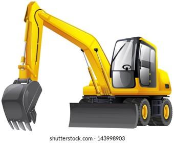 Illustration of an excavator