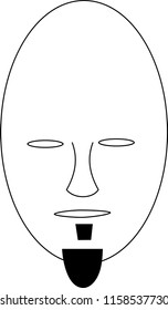 Illustration of Facial Hair
